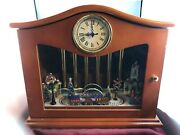 Mr. Christmas Lighted Moving Train Chimes 50 Tune Music Box Clock-has Defects