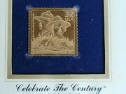 1998 Boy And Girl Scout - Gold Replica Stamp Golden Cover Proof 22kt