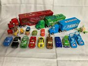 Disney Pixar Cars Diecast And Hauler Lot - Some Rare - All Used From Cars 1 2 And 3