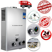18l Tankless Hot Water Heater Propane Gas Lpg Portable 4.8gpm Stainless Steel