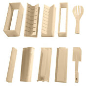10x Sushi Maker Kit Rice Roll Mold Kitchen Diy Easy Chef Set Mould Roller Cutt 3