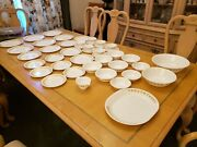 43 - Pc Vintage Corelle Butterfly Gold Dinnerware Set Plate Bowl Cup Saucer