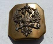 Wwi Period Imperial Russian Court-page Sword Belt Buckle Original Rare