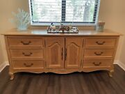 Century Manufacturing Solid Wood Bedroom Set In Weathered Oak