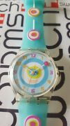 Swatch Minty Mouthful Ge157 2005 Standard Gents 34mm Silicone