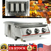 3 Burneroutdoor Tabletop Stainless Steel Lgp Gas Grill Portable Burner Bbq Party
