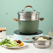 Andoslash24cm 2-layer Large Sauce Pot Stockpot W/ Inserted Steam Grid Lid Sale Stainless