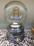 Glass Globe Ford Gumball Machine With Available Options Ford Gum And Machine Co