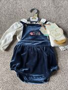 Little Bird By Jools Oliver Velour Fawn Baby Girls Vintage Outfit Up To 1 Month