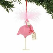 Pink Flamingo Bird Ornament Stand Out In A Crowd Snowpinions Collection Dept 56
