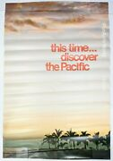 Pan Am's World Hawaii This Time Discover The Pacific Vintage Airline Poster Rare