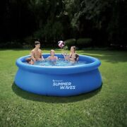 Summer Waves 10and039x30 Quick Set Above Ground Round Pool W/ Filter Pump Ships Asap