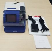 Amano Pix-200 Time Clock With Keys Ac Adapter And Manual