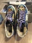 Womens Golden Goose Shoes Sequin May With Snake Sz 39