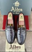Alden Mens Loafers Shell Cordovan 11d Handsewn Moccasin 986 Executive Slip On