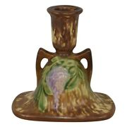Roseville Pottery Wisteria Tan Candle Holder 1091-4