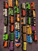 Thomas The Train Wooden Trains Lot Of 33