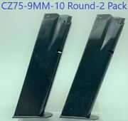 Pack Of 2 Iwi Cz 75/85/sp-01 9mm 10 Round Rd Blued Steel Magazine/mag/clip