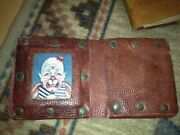 Burt Sharp Ringling Bros Clown 1930and039s-early 50and039s Personal Wallet With Orig. Oil