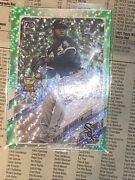 2021 Topps Series 1 Green Ice Parallel 223 Luis Robert White Sox Gold Cup /499