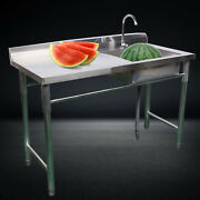 Stainless Steel Kitchen Stand Sink Square Laundry Domestic Commercial Catering
