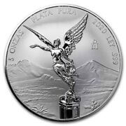 Libertad - Mexico - 2020 5 Oz Reverse Proof Silver Coin In Capsule - In Hand