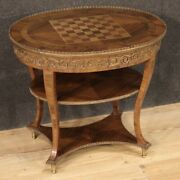 Coffee Table Inlaid Wood Gilded Bronze Living Room Furniture Antique Style 900