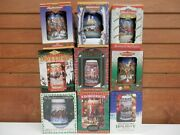 Lot Of Vintage Collectable Budweiser Holiday Stein Mugs Set. 1993-2001