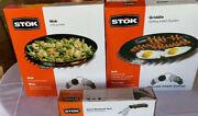 Stok Grilling Inserts. Griddle Wok And Insert Removal Handle