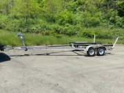 2001 Torino Dual Axle Aluminum Boat Bunk Trailer For 21-23and039 Boat Gvwr 5000 Lbs