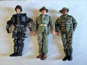 Large 1996 Vintage Lot Of Gi Joe Hasbro Action Figures, Clothes And Accessories