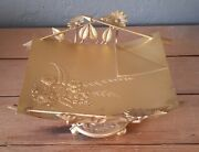 Antique Victorian Wilcox Quadruple Plated Ornate Botanical Calling Card Tray