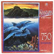 Mb Seascapes Robert Lyn Nelson Dolphins Off Alau 750 Pc Puzzle 18 X 24 - New