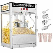 Vintage Style Popcorn Machine Maker Popper With Cart And 8-ounce Kettle 1/2 Cup
