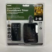 """Prime Remote Controlled Countdown Timer • 7 On/off Settings Outdoor Use """"new"""""""
