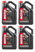 Motul 104087 7100 4t 5w40 Synthetic Motorcycle Engine Oil - 4-liters Pack Of 4