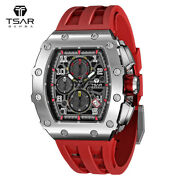 Men's Watches Silicone Band Sport Military Chronograph Waterproof Wristwatches