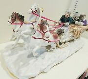 Scheibe Alsbach Porcelain Figurine Carriage Sleigh Ride 16 Germany Excellent