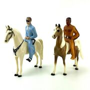 """Hartland Lone Ranger Tonto Silver Scout W/ Horses Incomplete 8""""x8"""""""