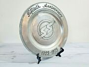 1973 Southern States Cooperative 50th Anniversary Pewter Plate Wilton Columbia