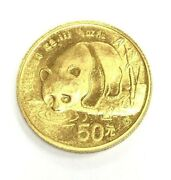 1987 S 1/2oz Chinese Gold Panda .999 Coin