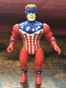Vtg 1984 Remco The Shield Mighty Crusaders Action Figure Toy 4.5 Archie Comics