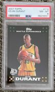 2007 Topps Kevin Durant 112 Rookie Card Psa 8 Nm-mt