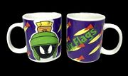 Six Flags Looney Tunes Marvin The Martian 3d Coffee Mug 8 Oz Cup - Set Of 2