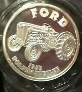 Ford 1953 Golden Jubilee Tractor 1 Oz. .999 Fine Silver Round Very Nice