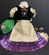 Antique Vtg Hand Made Traditional German Ethnic Doll Clothes For 27 Doll Ooak