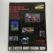 1989 Red Roof Inns 200 Trans-am • Mid Ohio Cart Indy Car Racing Program Book