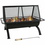Northland Outdoor Fire Pit - 36 Inch Large Wood Burning Patio And Backyard Firepit