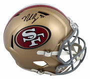 49ers Nick Bosa Authentic Signed Full Size Speed Rep Helmet Bas Witnessed
