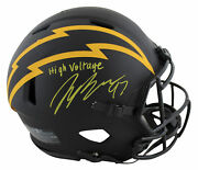 Chargers Joey Bosa H V Signed Eclipse Full Size Speed Proline Helmet Bas Wit